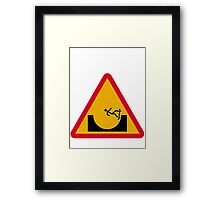 Skate or not 2  Framed Print