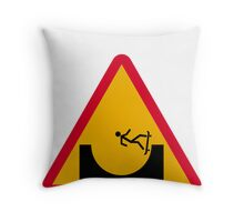 Skate or not 2  Throw Pillow