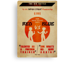Red VS Blue Canvas Print