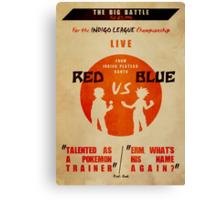 Red VS Blue Canvas Print