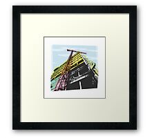 towerblock construction Framed Print