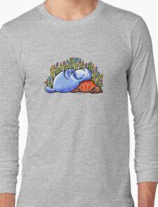 Sea Turtle and Manatee Long Sleeve T-Shirt