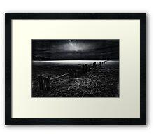 Sandsend, The Dark Side Framed Print