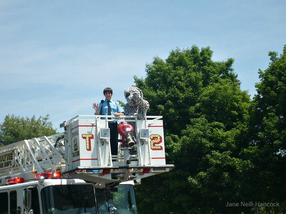 Parade: Young Fireman and Sparky by Jane Neill-Hancock