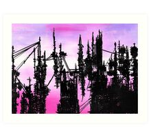Post Apocalyptic Skyline Art Print
