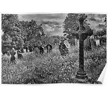 Gothic Graveyard Poster