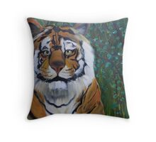 Stalking in Tall Grass and Brambles Throw Pillow