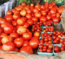 Tomatoes For Sale by Susan Savad