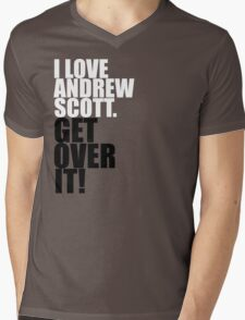 I love Andrew Scott. Get over it! Mens V-Neck T-Shirt