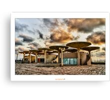 HDR Architecture in Tel Aviv Canvas Print