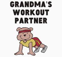 Grandma's Workout Partner One Piece - Short Sleeve