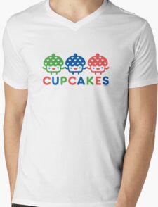 Cupcake Fun primary Mens V-Neck T-Shirt