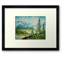Morning in the mountains Framed Print