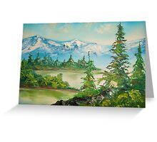 Morning in the mountains Greeting Card