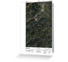 USGS Topo Map Washington State WA Aladdin 20110512 TM Greeting Card