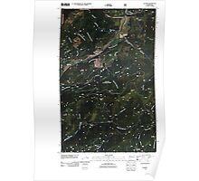 USGS Topo Map Washington State WA Aladdin 20110512 TM Poster