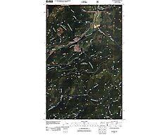 USGS Topo Map Washington State WA Aladdin 20110512 TM Photographic Print