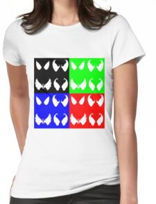 Colourful Symbiote Eyes  Womens Fitted T-Shirt