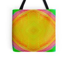 Psychedelic Sunburst - Bright Yellow & Green Tote Bag