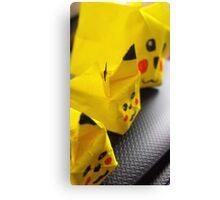 origami Pikachu family Canvas Print
