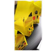 origami Pikachu family Poster
