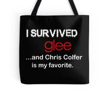 I survived glee...and Chris Colfer is my favorite. Tote Bag