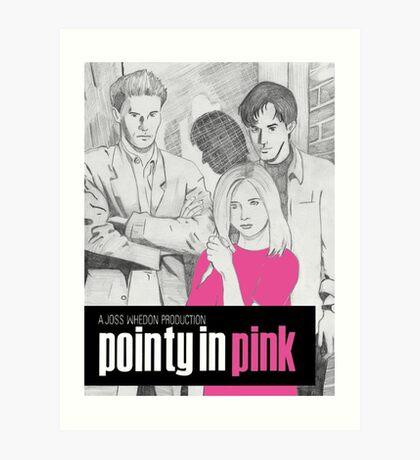 Pointy In Pink Art Print