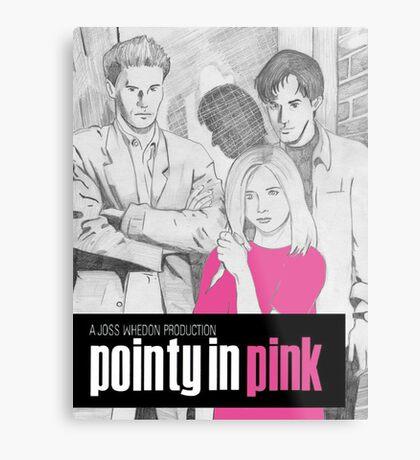 Pointy In Pink Metal Print