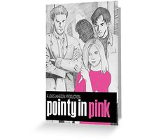Pointy In Pink Greeting Card