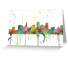 St Paul, Minnesota Skyline  Greeting Card