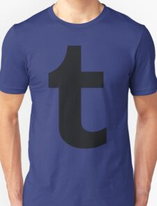 black on black tumblr logo T-Shirt