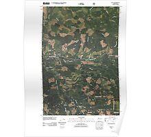 USGS Topo Map Washington State WA Dole 20110509 TM Poster