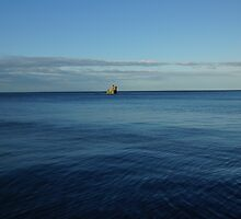 Flat Blue Calm by youmeus