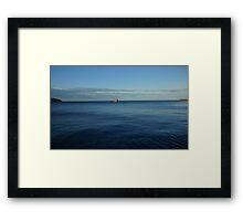 Flat Blue Calm Framed Print