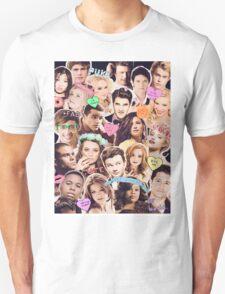 glee cast collage Unisex T-Shirt