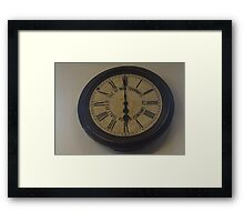 Manx Electric Railway Original Clock Framed Print