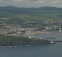 Douglas Bay Isle of Man from the Air by youmeus
