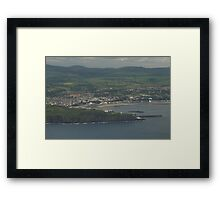 Douglas Bay Isle of Man from the Air Framed Print