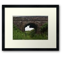 Near Cronk-Y-Voddy Isle of Man - Old North Line by Steam Peel to Ramsey  Framed Print