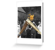 Olympic Torch 'Kiss' Greeting Card