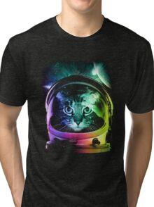 Astronaut Cat V.II Tri-blend T-Shirt