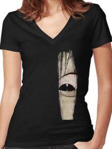 Sadako eye Women's Fitted V-Neck T-Shirt