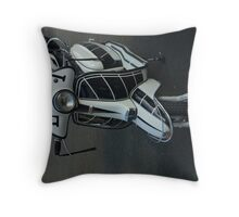 Lambretta Scooter Isle of Man Throw Pillow