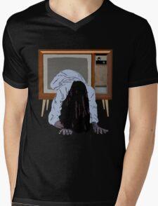 sadako's on the telly Mens V-Neck T-Shirt