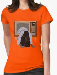 sadako's on the telly Womens Fitted T-Shirt