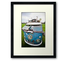 VW Hippy Split Screen Buss Framed Print