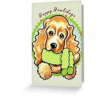 Cocker Spaniel Happy Howlidays Christmas Card Greeting Card