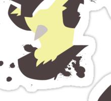 Lucario paint splatter shirt Sticker