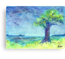 Evening (mixed media) Canvas Print