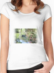 Like a duck in water Women's Fitted Scoop T-Shirt
